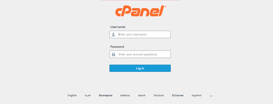 how to log in cpanel when password username incorrect